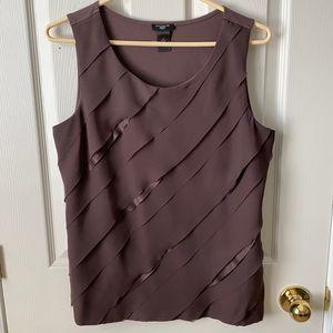 Ann Taylor asymmetric Sleevless top